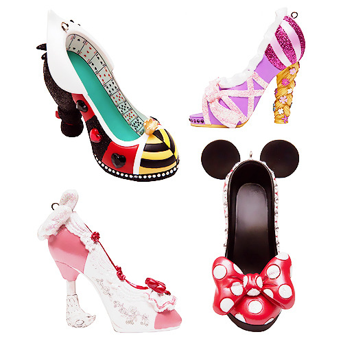 beautilation:  DISNEY SHOE ORNAMENTS Source: Disney Parks Blog