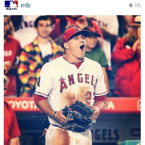Trout with a cycle! #Repost #Halos