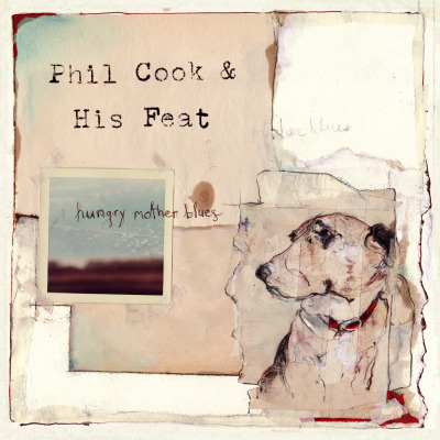 "Phil Cook & His Feat - Hungry Mother Blues  Megafaun's Phil Cook has had another run in with nature. During the recording of his 2009 eponymous debut he battled a violent thunderstorm. This time around, ""Mother Nature"" has locked him in a room and asked him for more. With guitar, banjo, and dobro in hand, Phil Cook and His Feat offer up Hungry Mother Blues. But before the first note is heard there's the matter of the collage style cover art created by Catherine Edgerton of Midtown Dickens. It's one of eroded images, worn out single paper dreams, and layers of a bit of one's soul. Earth toned elements, taped and pasted together, re-figure and recycle creating something new; something beautiful. It's a fine example of what good album art should do, one that accentuates the intimate, vulnerable and personal journey that embodies Cook's Hungry Mother Blues. Although recorded in a back room during a rare North Carolina ice storm, the album, conversely, acts as the perfect front porch summertime soundtrack. Providing us with unaltered instrumentals, Cook creates a score that invokes a polite nod to John Fahey, Elizabeth Cotton, and the finger-picking, slide stylings of early 20th century country and blues. Following an initial listen I wrote down three words in my notebook: birth / re-birth / and new beginnings. Those are the themes, or characters, I kept returning to as one song lead into the next. With each song, Cook allows his instruments to become alive, not in an effort to create perfection, but to justify their soul. He doesn't play by the book; he plays from the heart. That's what makes this record so real. As a song-cycle, each of Hungry Mother Blues tracks are dedicated to someone in Cook's life, be it a friend, a bandmate, or more importantly, Cook's unborn child. Each one of these songs seems to be a chapter, or celebration, of those in his life. They play out so naturally and with ease, that you honestly feel the album is just for him. You're welcome to pull up a stool, but whether you're there or not, these songs are going to be played. The most accessible, longest and possibly the most refined track on the album is ""Ballad Of A Hungry Mother."" An elegant mix of sharp slide work and deft fingerpicking, it may be the most visually inspiring song on the record. Dried creek beds, loose dressing gowns and red clay stained feet—dawning skies that break over pristine, dew laden fields—terrain sliced by the bare feet of a sacrificial mother. Another standout lies with the last cut on the album, the slower paced calming that is ""The Jensens."" Unlike anything else on the record, it is the ""end of the show"" track.  The slide work is haunting as it saws the strings ever so eloquently. The chorus subtlety traces the lines left behind by ""Lament and Lullabye."" It's Cook's El Dorado; His own ""Tired Eyes"". The lanterns are dimmed and once again Cook tips his hat to the past. Sunset themes as the journey concludes. But does it? As the sun nips the horizon and the ice cover melts, there's a sense this isn't the end. Tomorrow's a new day, a new beginning. The forces of nature will rear their heads once again, and thankfully Phil Cook will be there waiting for them. Written by Matt HayhurstOriginally Published May 9, 2011 on Aquarium Drunkard Phil Cook & His Feat  LP to be released by Trekky Records in a 3-part packaging, featuring a vinyl record, CD and MP3 download. MP3: Phil Cook & His Feat - Ballad Of A Hungry Mother"