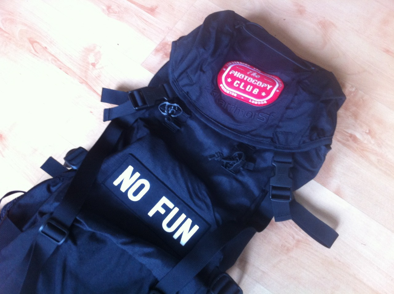 pauljohnnelson:  Suped up my international traveling rucksack. DIY YES!!!