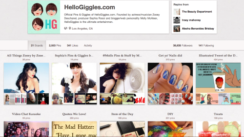 Hey Gigglers! Come PIN with us. Leave us your pinterest usernames so we can add you to our fabulous new board, made just for you.