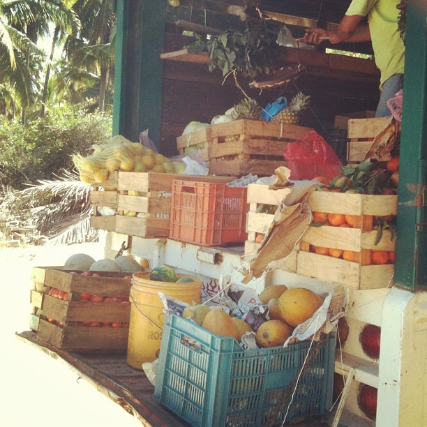 The vegetable truck (at Playa Blanca)