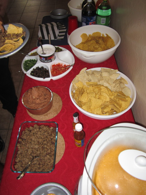 Teen party nacho bar.  They enjoyed it.