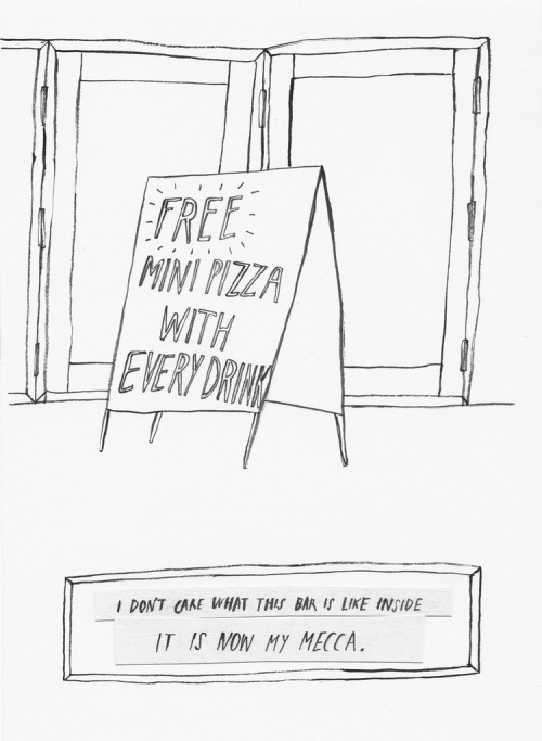 NY Stories - free pizza (by kaye blegvad)