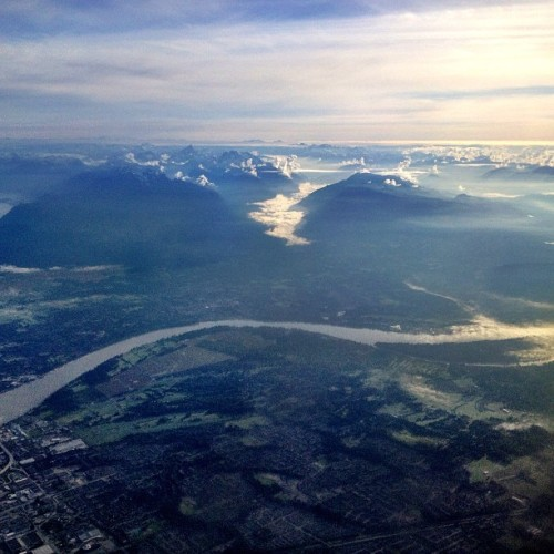 View of #Vancouver from the air - en route to Toronto / Washington DC ✈