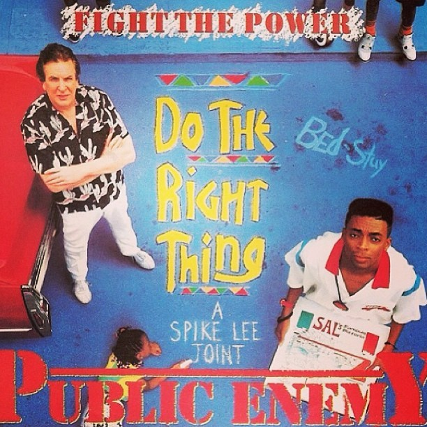 "A #SpikeLee Joint! ""Do The Right Thing"" #TBT #Classic  ❤#Love vs #Hate💔  #HipHop #Rebels #Activists #PublicEnemy #music #movie #SummerFlick🌞🎥 #RP @afropunk"