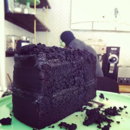 Blackout cake - chocolate cake with chocolate stout (at Ovenly)