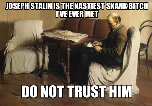 bulletproofjewels:  itsrainingmensheviks:  The truth behind Lenin's Testament  Must reblog for perfection.