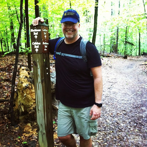 chrisabraham:  Chris-the-hiker (at Violette's Lock (Lock #23))  My friend is looking fit and trim!