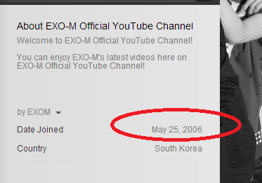 kt-indahouse:  So EXO-M's youtube account has been around since May 25 2006!