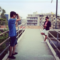 @raymondccollado behind the scenes of the summer shoot!!! Thanks @christian1992kaine for taking pix!!!!