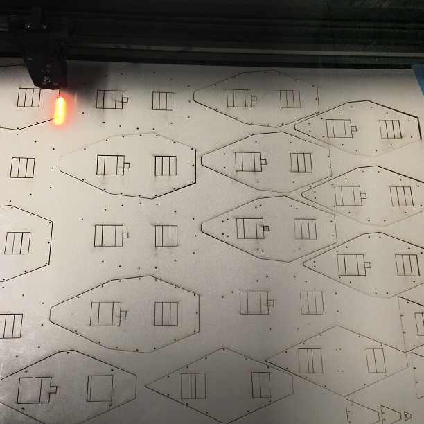 I spent all night lasercuting #fml #architecture #lasercuter #lasercutting