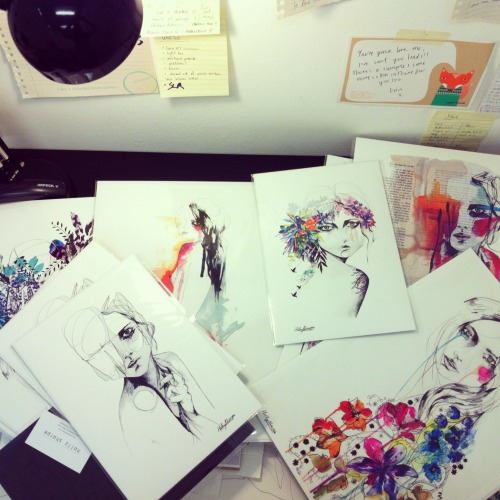 I've been busy trying to package prints…. sort out stock…. and generally get organised and catch up with myself! :sStay up to date with me and my work on Instagram here :)  Holly Sharpe♡