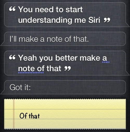 thedailywhat:  Touche of the Day  Siri can go overboard with sarcasm sometimes.