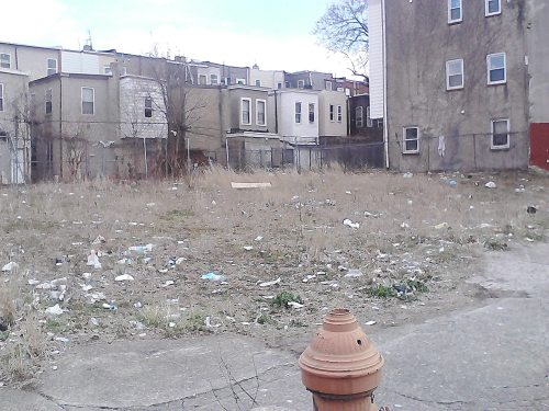 This is the lot I've adopted in North Philly..right on 15th street. I began fixated on it after strolling by it on my way to pick up some groceries. Directly across the street there is a charming elementary school. I think the deserve better things to look at than a blighted lot full of trash and weeds. I've started the process of turning this into a bright, cheery, fruitful community garden. I'll be posting updates as I go…and ways for people to contribute the success of this much need community asset.