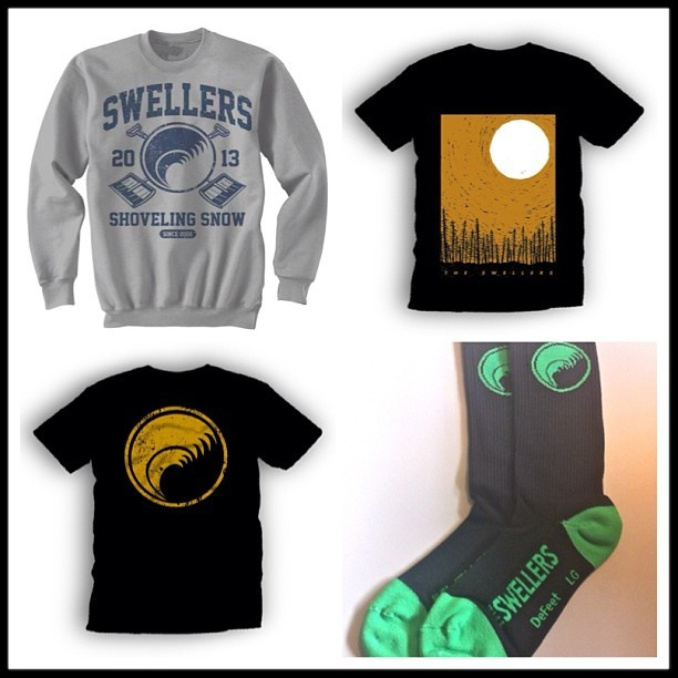 New items (Crew Neck, Shirts, Socks) up in the web store: http://store.theswellers.com