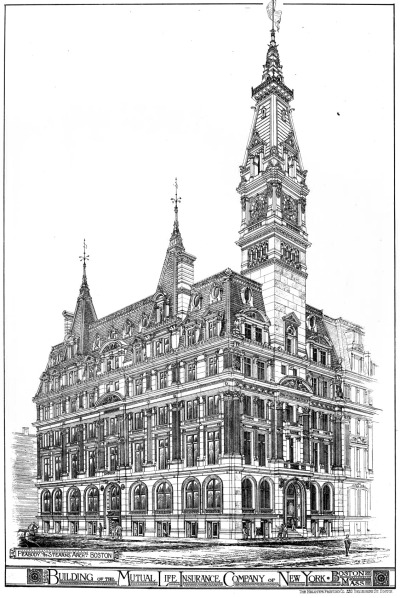 archimaps:  Peabody & Stearns's Mutual Life Insurance Company, New York City
