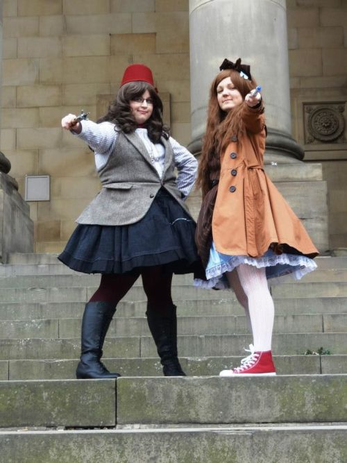 marilynanne:  More Dr Who lolita! Epic Fandom meet in Leeds last Saturday.Credit to Gina for this photo! <3
