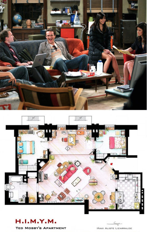 homedesigning:  How I Met Your Mother Apartment