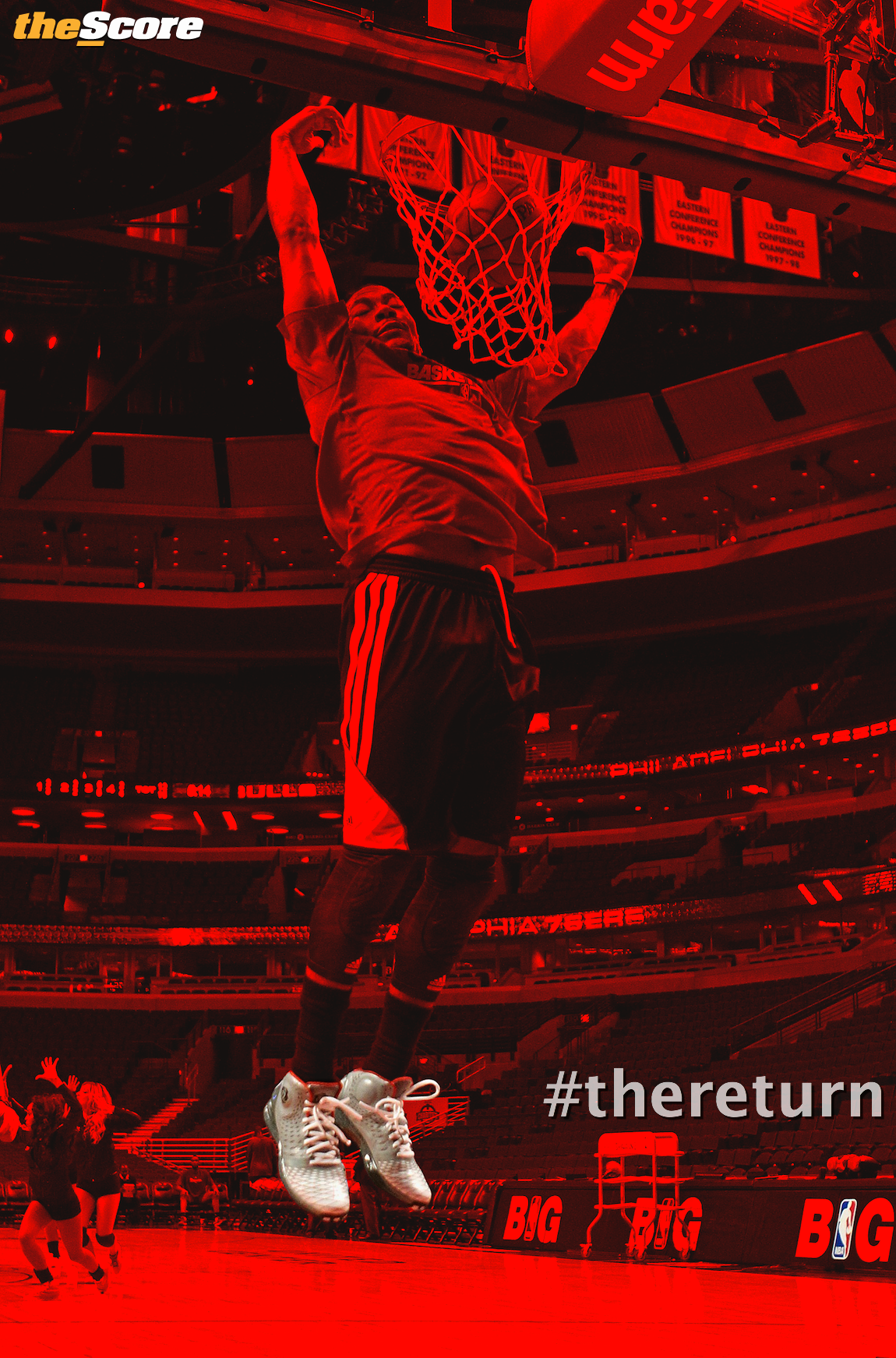 Pic: Derrick Rose is beginning to find his wings. #theReturn