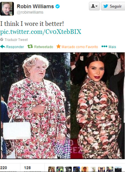 nudebbwpics:  Robin Williams thinks he wore it better LOL!!  Yep