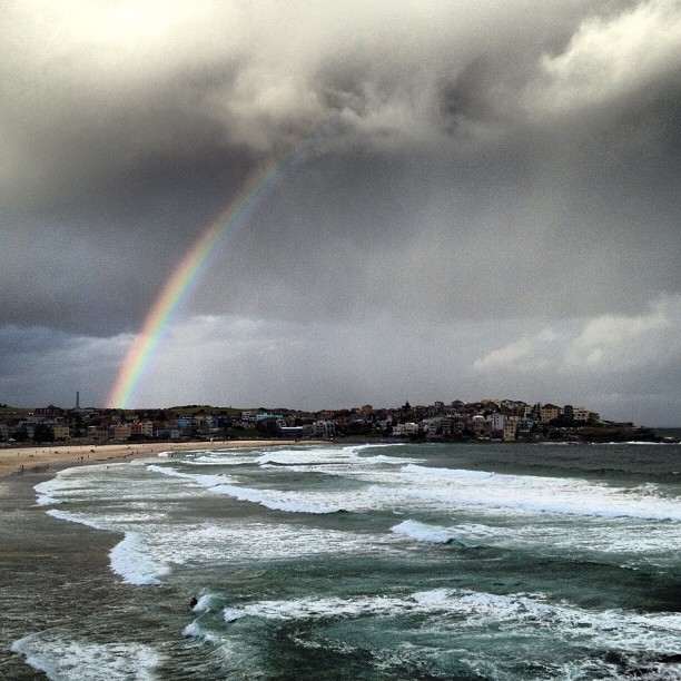Rainbow over Bondi.