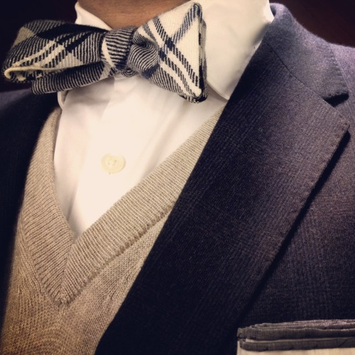 todaystie:  Theory shirt and vest - Black Fleece bow tie -Shipley and Halmos jacket