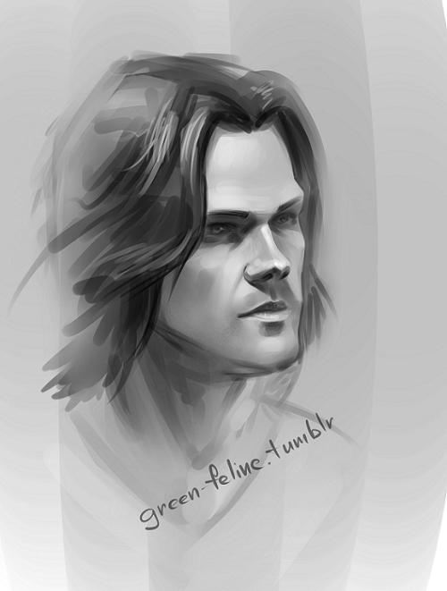 "Sketch: Sam Winchester ""Supernatural"""