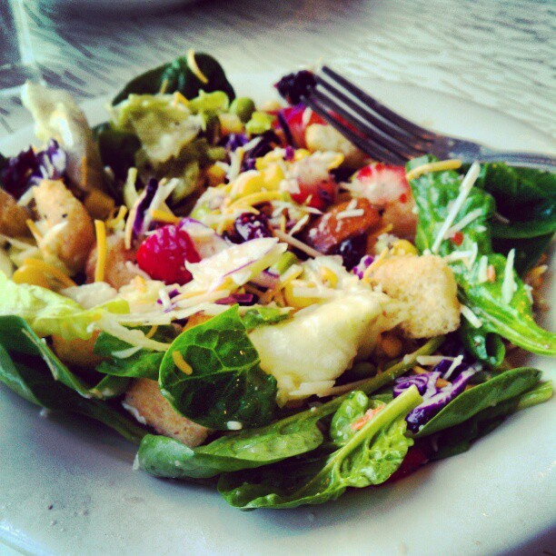 My salad is pretty.
