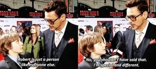 buttsexattiffanys:  robert downey junior is not lacking in confidence.