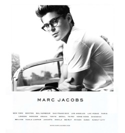 la-vita-di-classe:  Zac Efron for Marc Jacobs