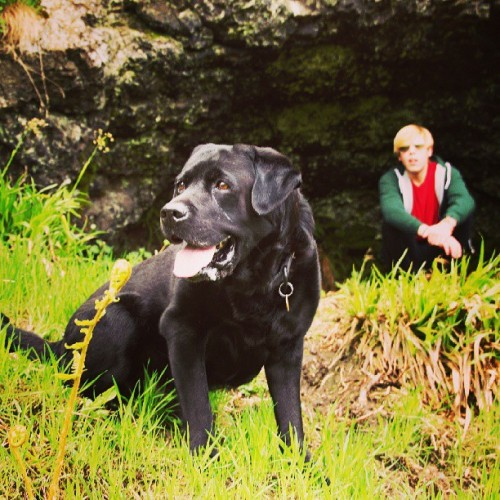 Looking for witches with Jasper and Iain. #animal #nature #instadog #pet #dog