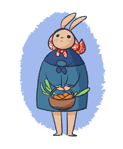 Jessi drew this really nice bun using a brush I made in MS5 and she looked really cute so I wanted to draw her too!