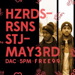 Come catch #HZRDSRSNS performing tracks off of our new album this Friday at St John's University @STJnow #nyc #performance #hiphop #obsg #igersofnyc #university #stjnow #design #flyer #brooklyn #queens #alumni