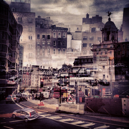 jaymug:  Double Exposures Blur Lines Between New York and London by Daniella Zalcman