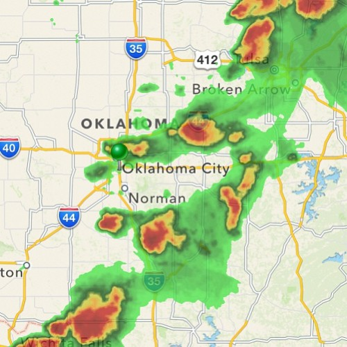 Thinking of everyone in OKC. Be safe y'all!!!