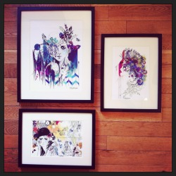 Dropped off an array of prints at my new stockist, 'The shop of interest' in Glasgow today :)  Holly Sharpe♥