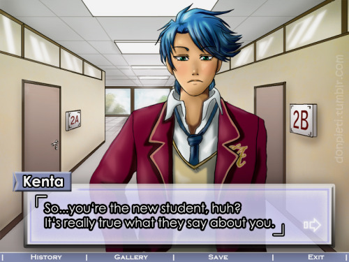 I tried to make a typical otome-game screenshot |3I have thought about that already several years ago but never did it..so here it is! : )