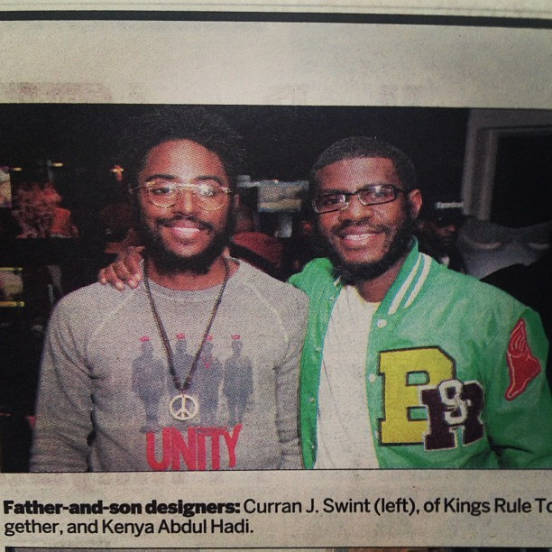 My pops @kenyaabdulhadi & myself in today's @PhillyDailynews paper today. S/O to @BigRubeHarley for the photo. #youngkings #kings #father #abu #searchandrescue #philadelphia #philly #dailynews #kingsinspirekings #kingsruletogether #KRT