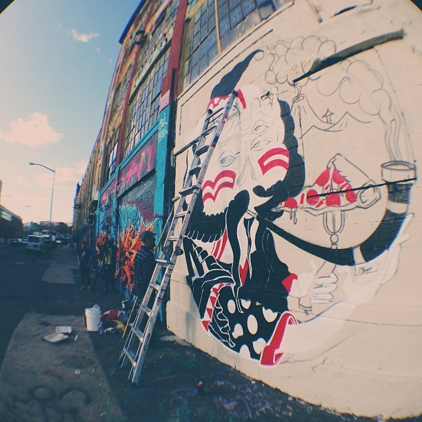 Pipe Dreams WIP 5pointz, NY Sheryo x The Yok Photo by MXCO