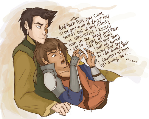 zukoshotpants:  Jet's a talker. Zuko doesn't really mind. In which Jet lays on Zuko and talks about nothing in particular just because he likes to run his mouth and because Zuko doesn't feel like making him shut up just yet. I'm still trying to figure out how drawing works