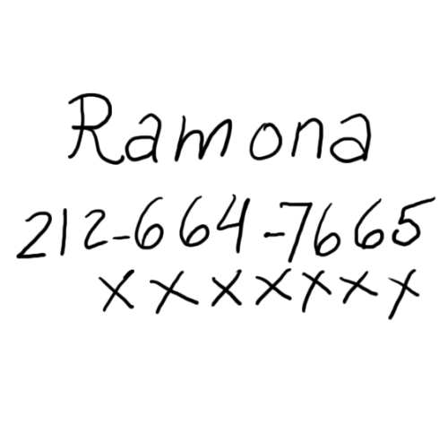foxorchid:  Ramona wrote her number on your blog! (transparent) Wooooow, girl number!