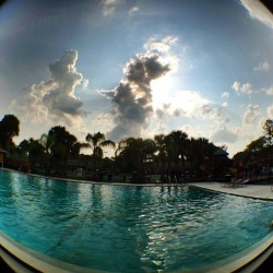 Pretty rough Sunday. #clouds #cloudaholic #sun #florida #fisheye #olloclip