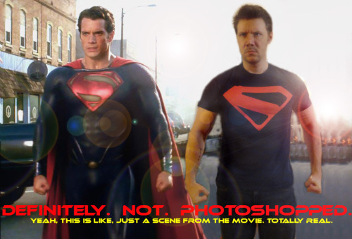 Oh look, I AM in Man of Steel after all! Yup. Not photoshopped. I play, uh…..Super….Superguy? Superpal? Random Citizen?