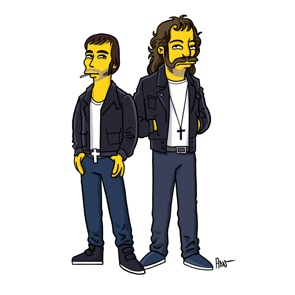 drawthesimpsons:  Justice (Xavier de Rosnay & Gaspard Augé) / Simpsonized by ADN