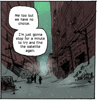 New Nuclear Winter page! Lost in the storm. Original French version here. English translation here.