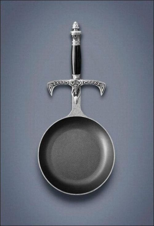 the-original-morticiamunroe:  bad-ass-fat-ass:  Your quest: Omlette. Choose your weapon wisely.  i have a mighty need