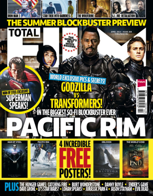 This month's Total Film features huge Pacific Rim and Man Of Steel exclusives, an Evil Dead set visit and an extended Jason Statham interview! On-sale now!