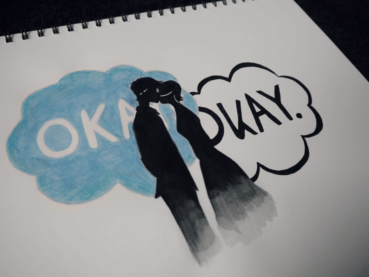 """sh4dows:    """"Okay,"""" he said after forever.""""Maybe okay will be our always.""""  """"Okay,"""" I said."""