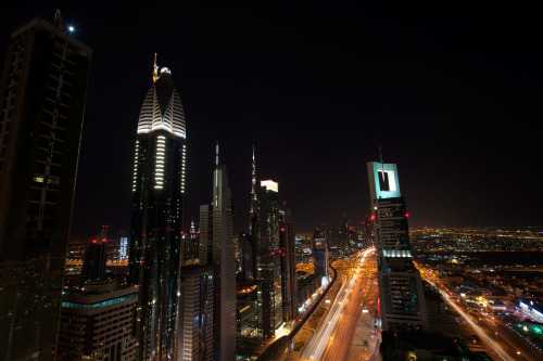 Dubai night scene, shot w/ my dad's D700 & 14-24mm lens